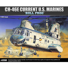 "Academy 1/48 CH-46E Current US Marine ""Bull Frog"" Model Kit Helicopter #12283"