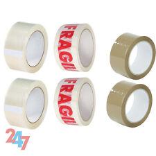 Nouvelle Forte Adhésif 6X Rouleaux Pack ruban 2X fragile 2X Clear 2X marron Emballage