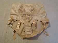 Vintage New Garter Belts 6-strap  Panty Girdle Mink Beige Large Lace Cleopatra
