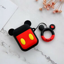 Silicone Cover Protective Case Apple Airpods GEN 1 2 Earpods Mickey Mouse CRTN