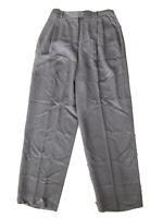 Vintage Burberry's Burberry Grey Virgin Wool Womens Trouser Dress Pants Size 12