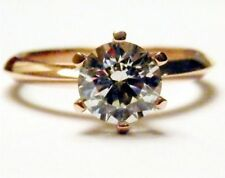 Diamond Solitaire Rose Gold 18k Engagement Rings