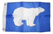 """12x18 12""""x18"""" Polar Bear Blue Motorcycle Flag Grommets"""