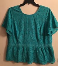 JESSICA LONDON BLOUSE SHORT SLEEVES WITH LACE  SIZE 20 NEW