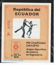 Ecuador Sc 1057A NH S/S of 1984 - winter Olympics - Figure Skating