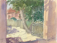 Clifford H. Thompson (1926-2017) - 2008 Watercolour, Park Gates