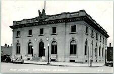 WATERTOWN, South Dakota RPPC Real Photo Postcard POST OFFICE Street View 1949