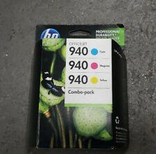 HP 940 Genuine Combo-Pack C M Y Ink Cartridges HP CN065FN In Box 2012 Exp.