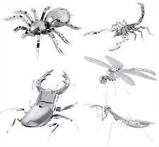 Bugs Collection Lot Of 5 Metal Earth: Tarantula, Praying Mantis, Etc
