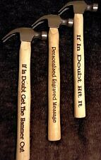 Personalised Engraved Hammer - Birthdays Weddings Valentines Fun Fathers Day