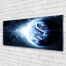 Glasbilder Wandbild Druck auf Glas 125x50 Erdball Weltall
