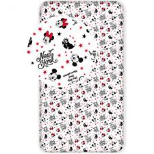 Disney Minnie Maus - Spannbettlaken - Bettlaken - 90x200 cm - 100% Baumwolle