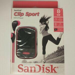 SanDisk MP3 Player Clip Sport - Pink (8 GB) Digital Media MP3 Player and Radio