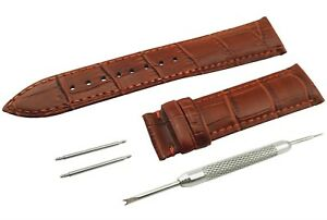 BROWN Genuine Leather Strap Band fit ROTARY Watch  Clasp 18-22mm