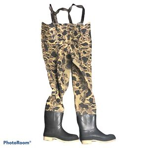 Duck Camo Waders Size 8 Made In The USA