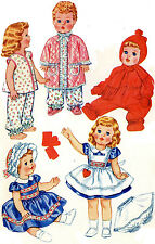 Tiny Tears Baby Toodles Sweet Sue Betsy Wetsy Doll Clothing PATTERN 2412 sz 11""