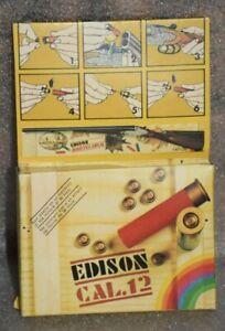 Vintage Edison Cal.12 Box of 24 Caps + 2 Cartridges Edison Montecarlo Toy Gun