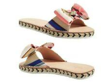 NIB Kate Spade Multi color slide slip on bow sandal Size 5