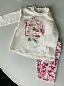 Mayoral Girls leggings set in Granate with Floral Print (age 36 Mnths) Clearance