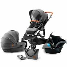 Kinderkraft Prime 3 in 1 Travel System, Suitable from Birth-15kg