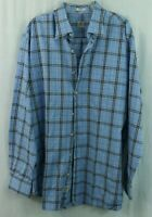 Peter Millar XL men's Button Plaid Shirt Blue White Checks Long-sleeved