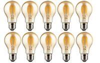 10er trendlights LED LED-Lampe A60 4W-33W 370lumen E27 2500k Birne Gold EEK A+