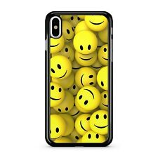 Yellow Smiley Tennis Balls Faces Athletic Sports Pattern 2D Phone Case Cover