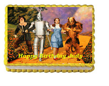 The Wizard of Oz Birthday Party Edible Cake Topper 1/4 frosting icing sheet
