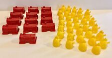 SpongeBob Monopoly Replacement Pieces Pineapple Houses & Krusty Krabs Full Set