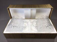 (2) iittala Ultima Thule Design by Tapio Wirkkala Lg Beer Coffee Mugs Finland