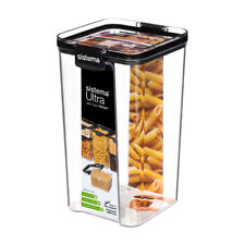 Sistema Tritan Storage Tub Canister Square Ultra Clear Stack Stacking 1.3L