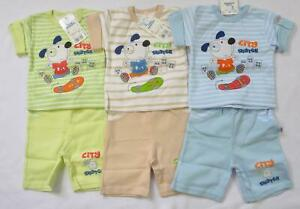 100% Cotton Baby boys 2pc SET top + shorts 3-12 months OUTFIT Summer sale