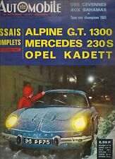 L'AUTOMOBILE 237 1966 MERCEDES 230 S W111 OPEL KADETT CRITERIUM CEVENNES BAHAMAS