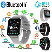 """1.78"""" Screen Smart Watch IP68 Waterproof Fitness Sports Monitor For Samsung IOS"""