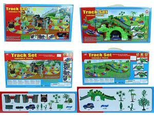 New Kids/Child Set of Car Track B/O Various Tracks Light & Sound Effects Toy UK