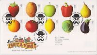 GB ROYAL MAIL FDC FIRST DAY COVER 2003 FRUIT & VEG STAMP SET PEAR TREE PMK