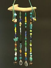 New listing Bead Sun Catcher/Wind Chime Multicolor on Driftwood Base, Free Shipping