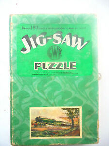GWR Chad valley vintage wooden jigsaw puzzle 'Royal Route to the West' complete