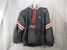 Vintage Starter Chicago Bulls Puffer Jacket Pullover hooded Poncho Size Men's M