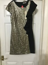 Womens Dress Gold Sequin Small New With Tags