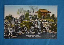 1908 Postcard Garden of Floating Islands Great White City London Valentine