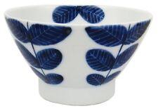 Hasami Ware aoba blue leaves KURAWANKA rice bowl (large)  009540-101 Japan
