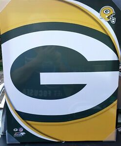 """SUPER LOOKING GREEN BAY PACKERS CANVAS TEAM LOGO ARTWORK-WALL HANGING 20"""" BY 16"""""""