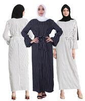 Fashion Women  Long Maxi Cocktail Dress Muslim Abaya Kaftan Islamic Robe Dresses