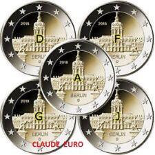 5 X 2 EURO COMMEMORATIVE ALLEMAGNE 2018 CHATEAU CHAROTTENBURG