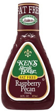 Ken's Fat Free Raspberry Pecan Salad Dressing 16 oz bottle (2 Pack)