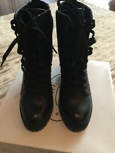 Steve Madden Leather Laurie Combat Boots - Size 7.5