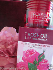 ULTRA ACTIVE NIGHT  FACE CREAM AGE CONTROL WITH ROSE OIL REGINA FLORIS  50ML.