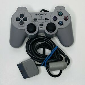 OEM Gray Sony PlayStation 1 PS1 Dual Shock Analog Controller SCPH-1200 Tested