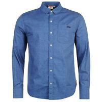 Lee Cooper Mens Long Sleeve Textile AOP Shirt Casual Cotton Pattern Fold Collar